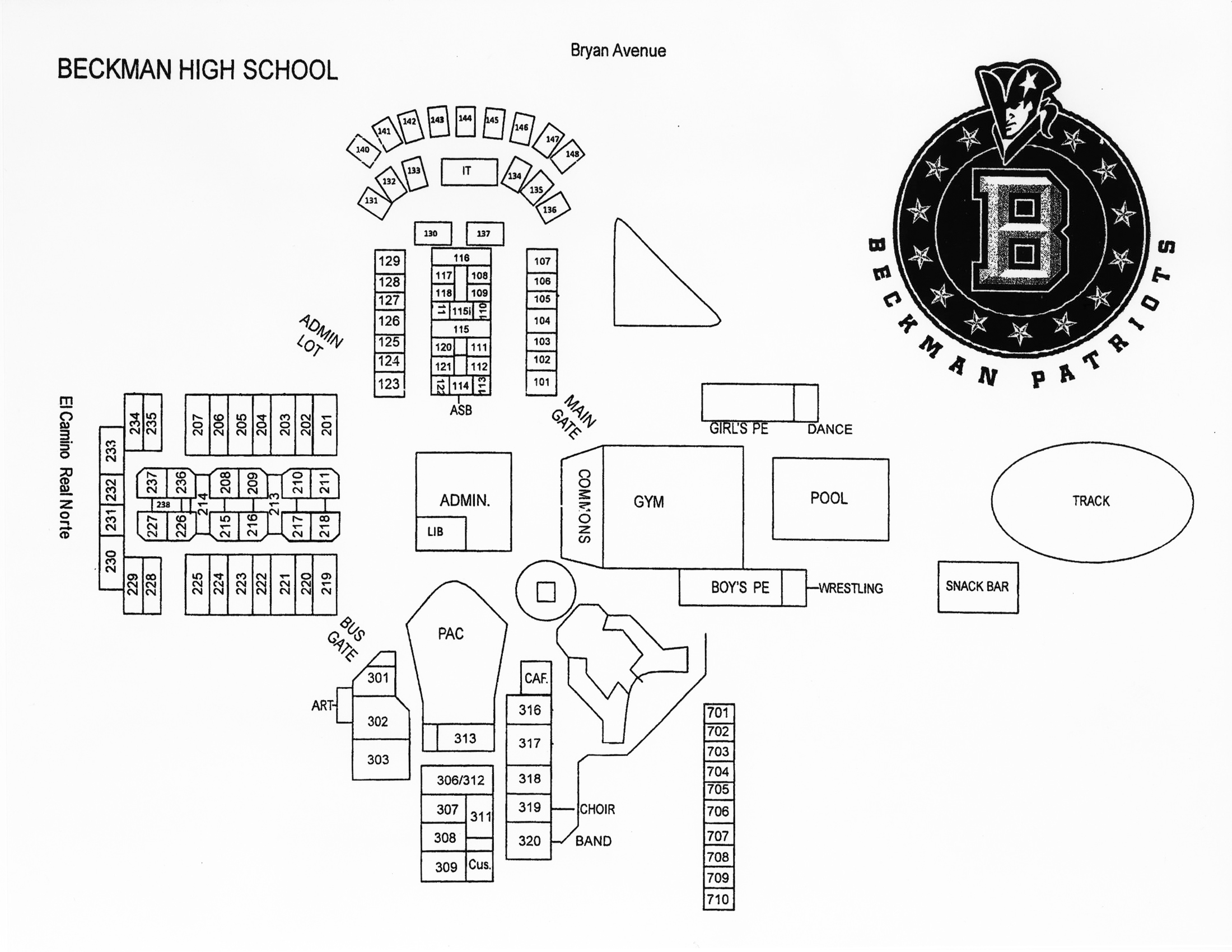 Coastline Rop Beckman High School Map
