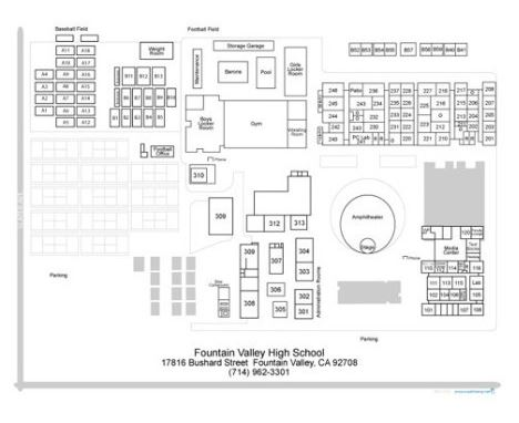 Coastline Rop Fountain Valley High School Map