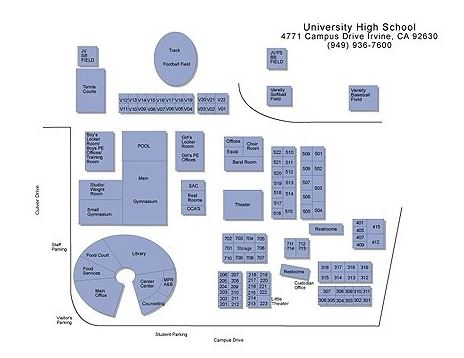Coastline ROP University High School Map